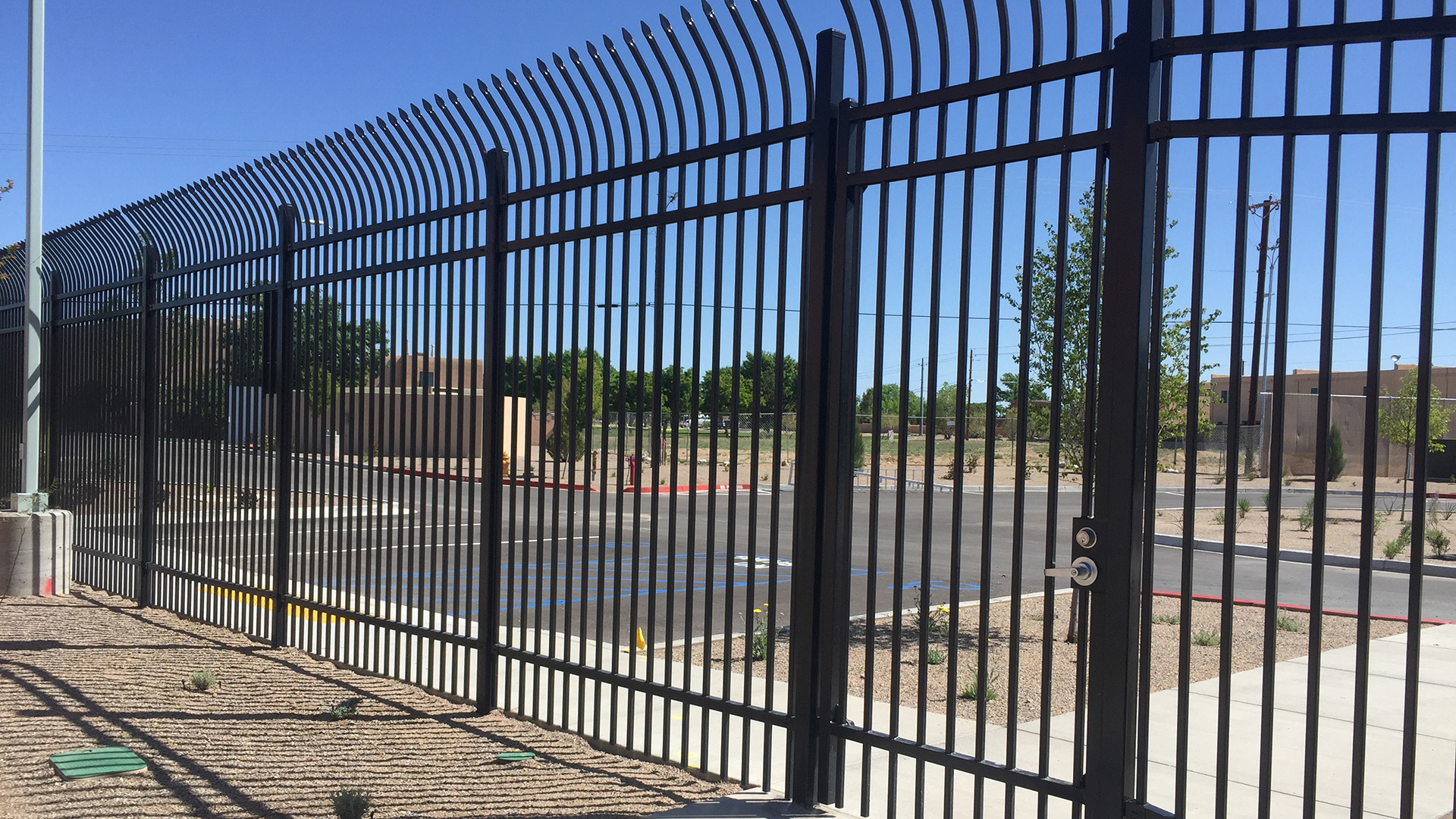 Ornamental wire fencing - We Work With Many Leading Manufacturers To Offer The Very Best In Ornamental Iron Fencing Scott S Fencing Works With The Military Sports Facilities